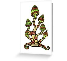 Magic mushrooms, Plants of the Gods, psychedelic, Trance Goa Psy  Greeting Card
