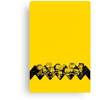 Charlie Brown y sus amigos Canvas Print