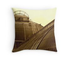 Palm House in Sepia Throw Pillow
