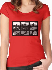 Crossing The Bridge into The Abstract Women's Fitted Scoop T-Shirt