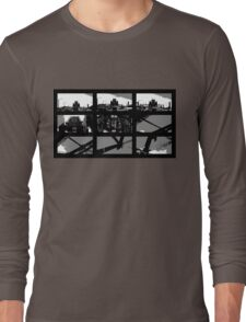 Crossing The Bridge into The Abstract Long Sleeve T-Shirt