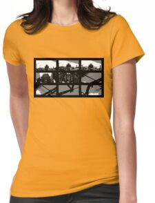 Crossing The Bridge into The Abstract Womens Fitted T-Shirt