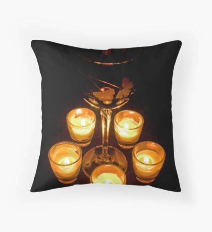 Candlight and Wine Throw Pillow