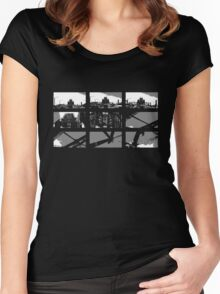 Crossing The Bridge into The Abstract - Black Women's Fitted Scoop T-Shirt