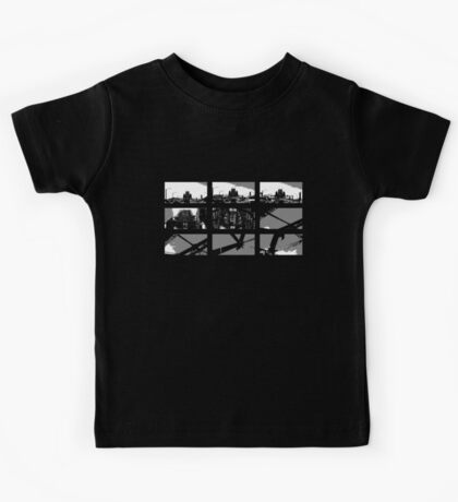 Crossing The Bridge into The Abstract - Black Kids Tee