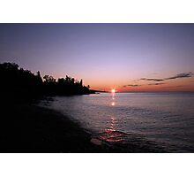 Sunrise in Grand Marais Photographic Print