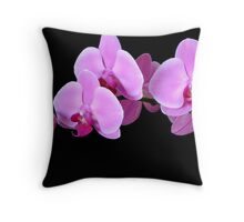 Orchid Phalaenopsis Throw Pillow