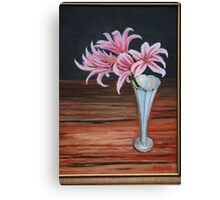 """""""Lilies and wood"""" Canvas Print"""