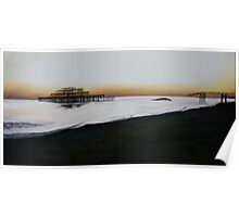 Brighton West Pier-Tranquil sunset Poster
