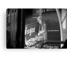 Tribute to Weegee Canvas Print