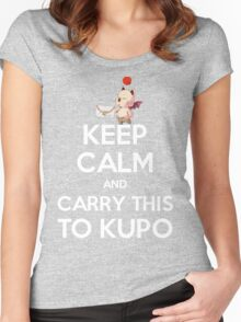FF9 - Keep Calm and Carry This to Kupo Women's Fitted Scoop T-Shirt