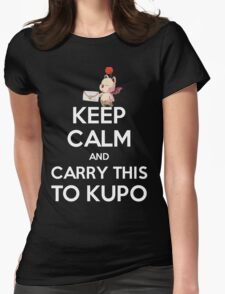 FF9 - Keep Calm and Carry This to Kupo Womens Fitted T-Shirt