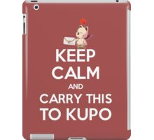 FF9 - Keep Calm and Carry This to Kupo iPad Case/Skin