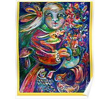 Orphan Child with Flowers Poster