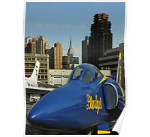 The Blue Angels On Manhattan Poster