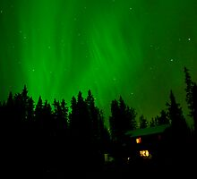 Auroras over our Home by peaceofthenorth
