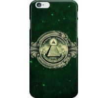 All seeing eye, pyramid, dollar, freemason, god iPhone Case/Skin