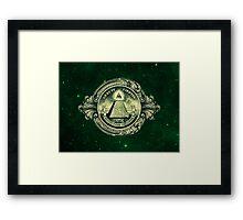 All seeing eye, pyramid, dollar, freemason, god Framed Print