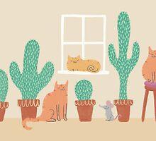 Cats Love Cacti by pigandpumpkin