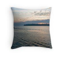 sunrise on lake ontario Throw Pillow