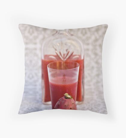 Prickly Pear Drink Throw Pillow