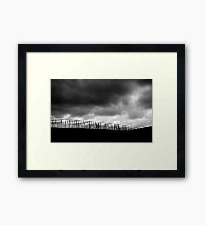 Oh, a storm is threatenin'... Framed Print