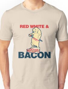 red white and bacon Unisex T-Shirt