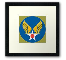 US Army Air Corps Hap Arnold Wings Framed Print