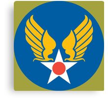 US Army Air Corps Hap Arnold Wings Canvas Print