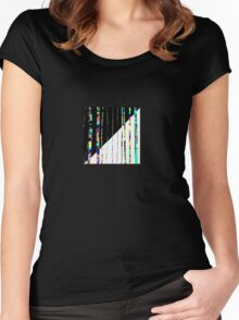 PENCIL SKIRT, Textile art, abstract lines, gifts, decor Women's Fitted Scoop T-Shirt