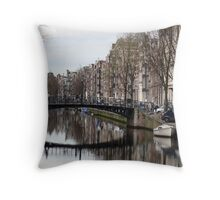Amsterdam - Canal Reflection Throw Pillow