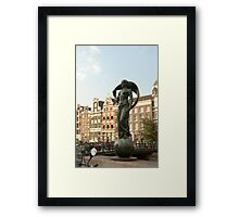 Facing the wind Framed Print