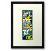 Two angels in heaven Framed Print