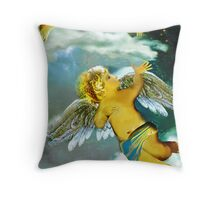 Two angels in heaven Throw Pillow