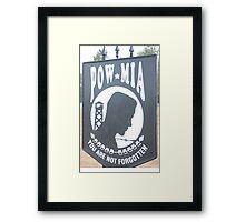 POW~~MIA Framed Print