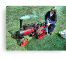 A Marshall 3 inch scale steam Traction Engine at Hawkesbury Upton Fair. Canvas Print