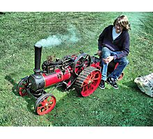 A Marshall 3 inch scale steam Traction Engine at Hawkesbury Upton Fair. Photographic Print