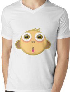 Monkey Face Mens V-Neck T-Shirt