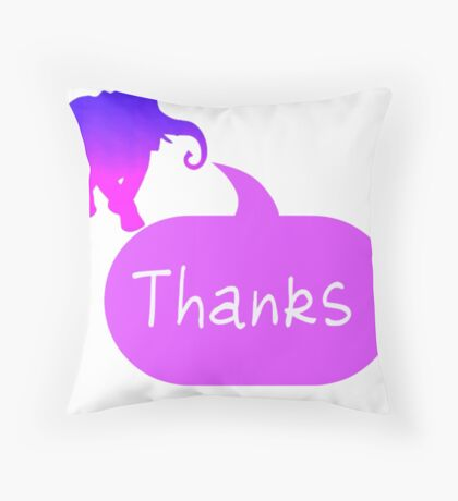 Elephant Thank You Card Throw Pillow