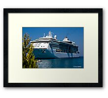 A Summer´s Day in the Mediterranean Sea. Brilliance of the Sea. Framed Print