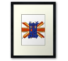 Dr Who - The Tardis - Vintage Jack Framed Print