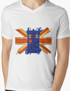 Dr Who - The Tardis - Vintage Jack Mens V-Neck T-Shirt