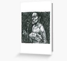Jazz Portraits-Billie Holiday Greeting Card