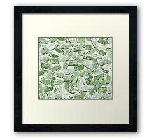 Camper Collage (Green) Framed Print