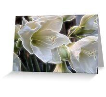 Fractalius lillies.... Greeting Card