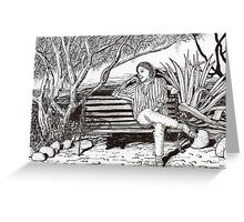 Waiting for her lover in Tucson, Arizona Greeting Card