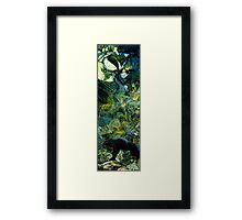 Night of the panther Framed Print