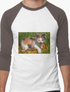 cat pet Men's Baseball ¾ T-Shirt