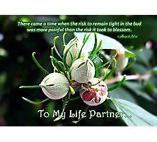 Life Partner Card Photographic Print