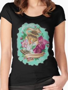 lantern with cherry blossoms Women's Fitted Scoop T-Shirt